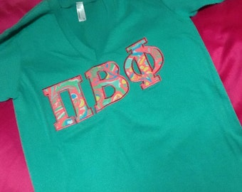 Pi Beta Phi Lilly V-Neck T-Shirt in Size Extra Small to  Extra Large