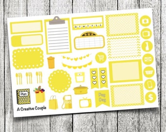 Yellow Assortment Planner Stickers