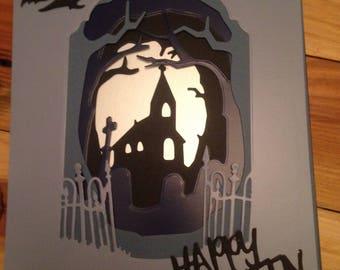 Happy halloween card. A5. C5