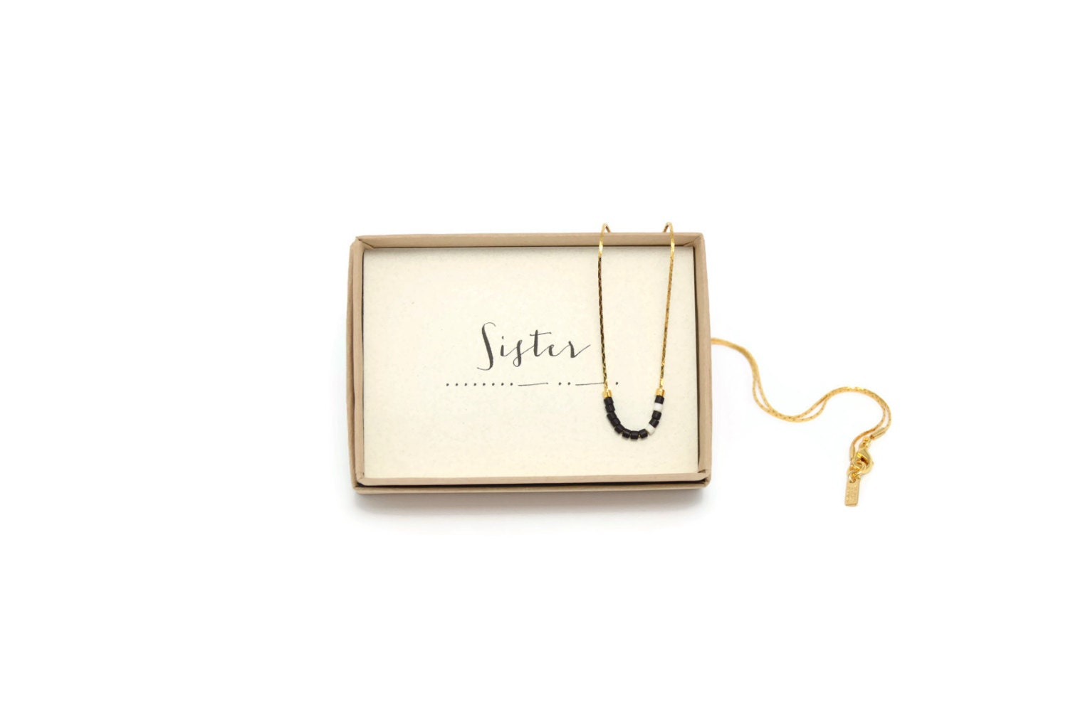 Sister sister morse necklace sister gift sister necklace zoom negle Gallery