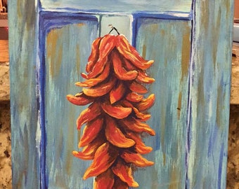 Chili Ristra painting