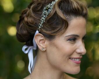 Crystal Headband - Crystal Headpiece - Wedding Headband - Wedding Headpiece - Bridal Headband - Bridal Headpiece - Prom Headband - SOPHIA