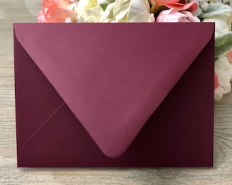 25 - Burgundy Euro Flap Envelopes  - Choose from A1 Envelope, A2 Envelope, A6 Envelope, A7 Envelope or A9 Envelope
