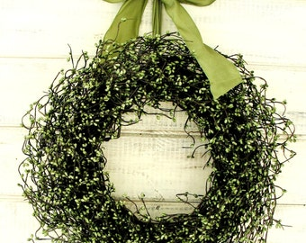 Spring Wreath-St. Patricks Day Wreath-Spring Door Wreath-Rustic SAGE GREEN Door Wreath-SCENTED Wreath-Rustic Home Decor-Housewarming Gift