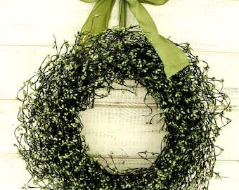 Spring Wreath-Summer Wreath-Farmhouse Door Wreath-Rustic SAGE GREEN Door Wreath-SCENTED Wreath-Rustic Home Decor-Housewarming Gift