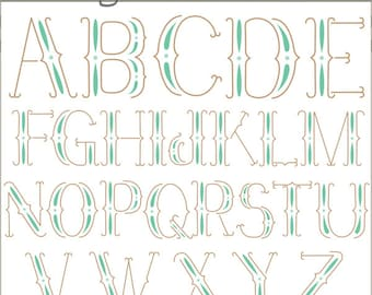 Vintage Alphabet Clipart -Personal and Limited Commercial Use- retro letters Clip art