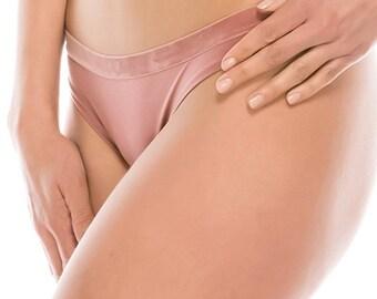 Ladies micro suede thong