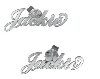Earrings personalized with the name