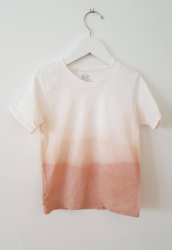 Botanically Dyed Children's Tee / Toddler T-Shirt / Eco Fashion / Slow Fashion / Hand Dyed / Botanical Color / Natural Color / Dip Dyed