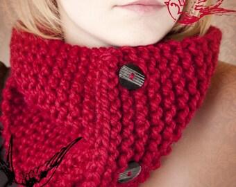 PATTERN Knittles 3 Button Neckwarmer