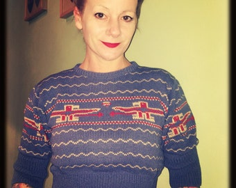 Vintage inspired T bird jumper