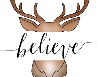 Deer - believe print
