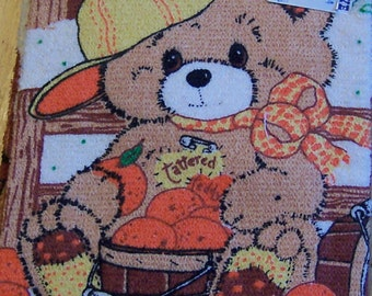 1985 tattered teddy towel