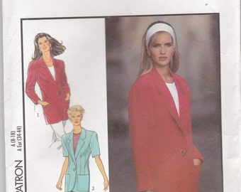 1990s Style Sewing Pattern No 2020  for Womens Jacket  Size 8-18  Bust 31 1/2 -40 inches, Uncut, Factory Folded