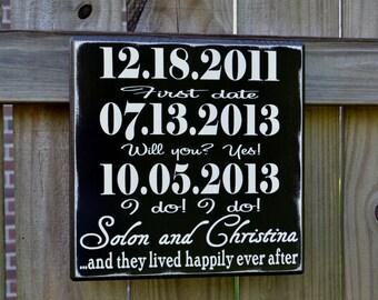 Cadeau de mariage, cadeau de mariage pour elle, l'Engagement pour elle, cadeau d'anniversaire pour elle, cadeau d'anniversaire, 5e anniversaire, pour lui en bois