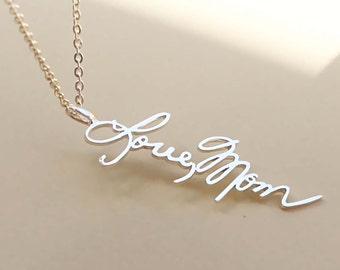 Signature pendant etsy sale 20 off personalized signature necklace signature pendant memorial jewelry handwriting aloadofball Gallery