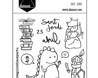"Acrylic Stamps ""Sant Jordi"""