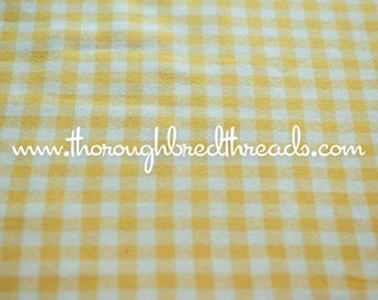 Gold Gingham - Vintage Fabric Multi-Colored Preppy Wool Blend