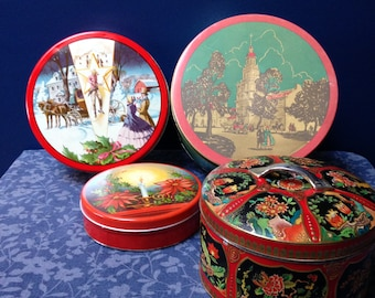 Fruitcake Tins (all 4 tins for the price)