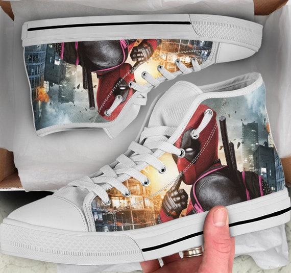 Top 2 Converse Shoes Shoes Deadpool Tops high like Looks Women's Sneakers Men's High Shoes sneakers Deadpool Deadpool Colorful ISdqBvw