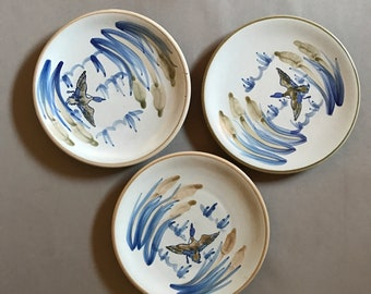 Vintage Louisville Stoneware Kentucky Plates set of 3
