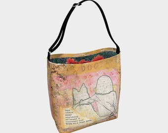Dog's Love Stretchy Tote Bag