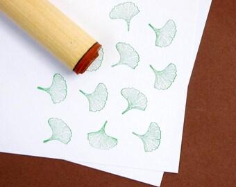 Ginkgo Leaf  Rubber Stamp