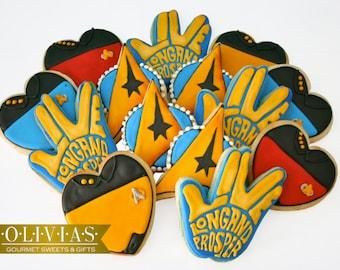 STAR TREK COOKIES | Enterprise Decorated Sugar Cookies - Insignia, Picard, Kirk, Spock, +More