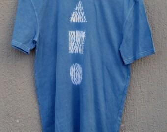 Indigo Hand Dyed Shibori T-Shirt 54 Size S