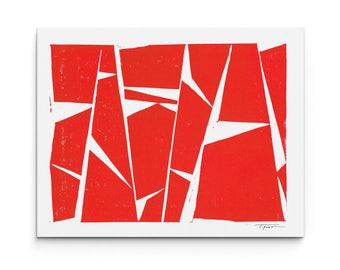 Geometric Trapezoidal Modern Forms - Linocut Block Print - Digital or Original Print