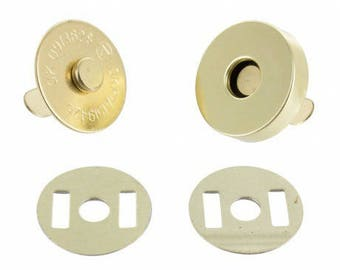 Snap clasp gold 20 mm