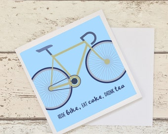 Blank card for Biker, greeting card for cyclist, blank card, sports occasion card, road biking, gift card for cyclist