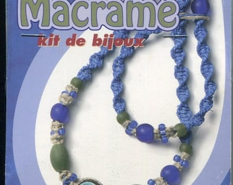 The Beadery Macrame Jewelry Kit Makes 1 Choker and Bracelet W015 Includes Cord and Beads