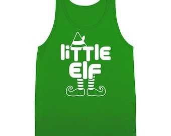 Little Elf Xmas Christmas Holidays Funny Family Santa Tank Top DT2115