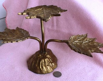 Brass Tree With Three Leaves