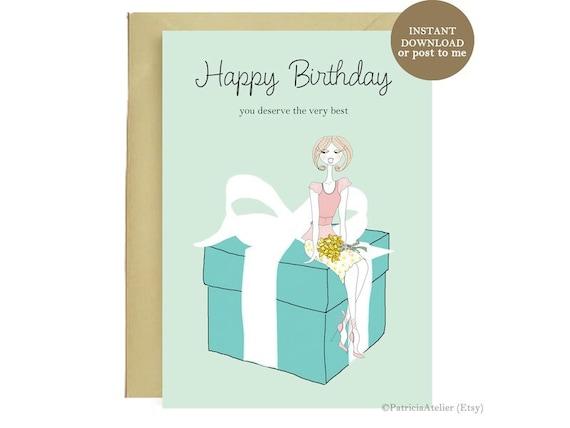 Happy birthday tiffany card illustrated birthday card happy birthday tiffany card illustrated birthday card birthday gift birthday girl birthday card fashion card instant download bookmarktalkfo Gallery