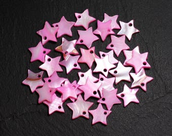 10pc - charms Pearl Pink 12mm 4558550020185 stars