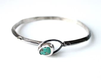 Vintage Sterling Silver and Turquoise Bracelet