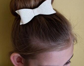 22 Colors - Large Glitter Tuxedo Hair Bow - Headband - Clip - Glitter Bow - Hair Bow
