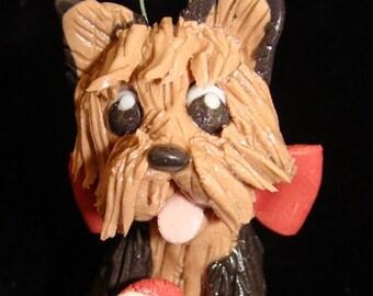 Yorkshire Terrier Porcelain Ornament