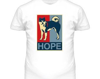 Akita Custom Dog Breed Hope Parody T Shirt