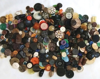 Antique Vintage Celluloid Early Plastic Sewing Button Mixed Huge Lot, 2 lbs +