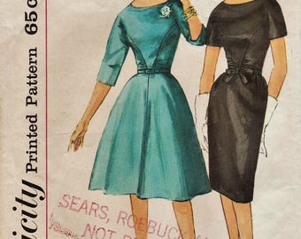 Simplicity 4147 / Vintage Sewing Pattern / Dress / Size 16 Bust 36