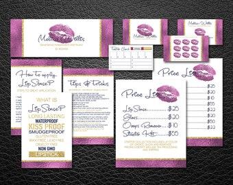 Lipsense Business Card | LipSense Bundle Pack | LipSense Marketing kit  | Distributor Lipsense | Pink |