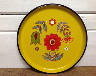 Vintage Melamine Serving Plate Mid Century Floral