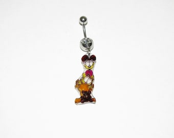 Garfield eco-friendly dangle belly button ring