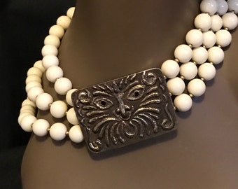 Necklace Choker Statement Piece Retro Fashion SALE PRICE was 30.00 now 1/2 off now 15.00