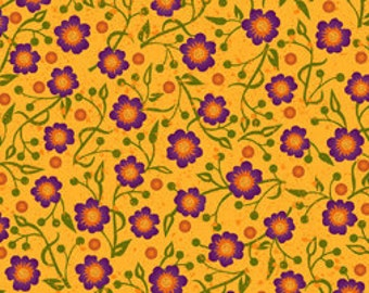 Autumn Harvest by Quilting Treasures-Gold Floral 21304-S