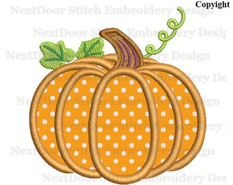 Pumpkin embroidery applique design,  Thanksgiving autum fall download, thanksg-006