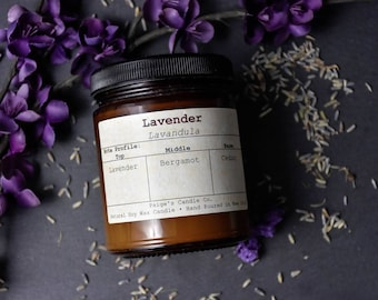 Lavender Scented Natural Soy Wax Candle